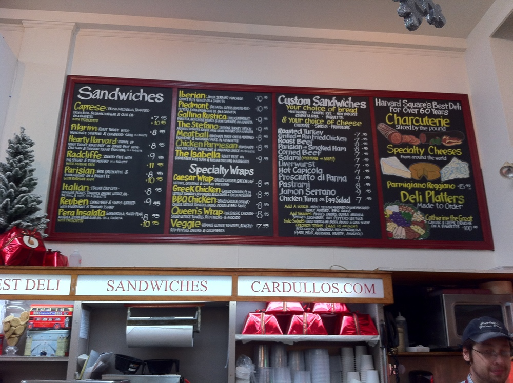 Cardullo's_Sandwich Boards Installed