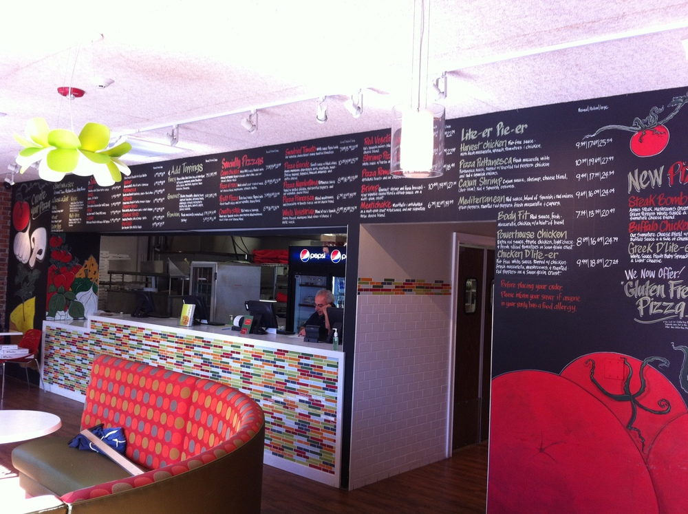 Pizza Pie'er_Menu Wall