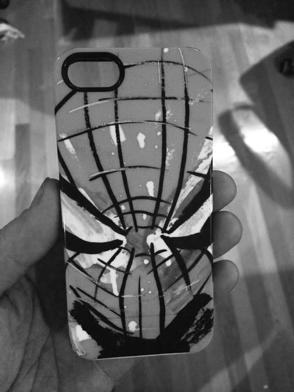 I'll have prints available of this spidey head and phone covers can be ordered through my store.