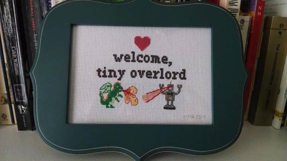 A friend of Stephanie's made this as a gift for a new mom.  You know you can relate!