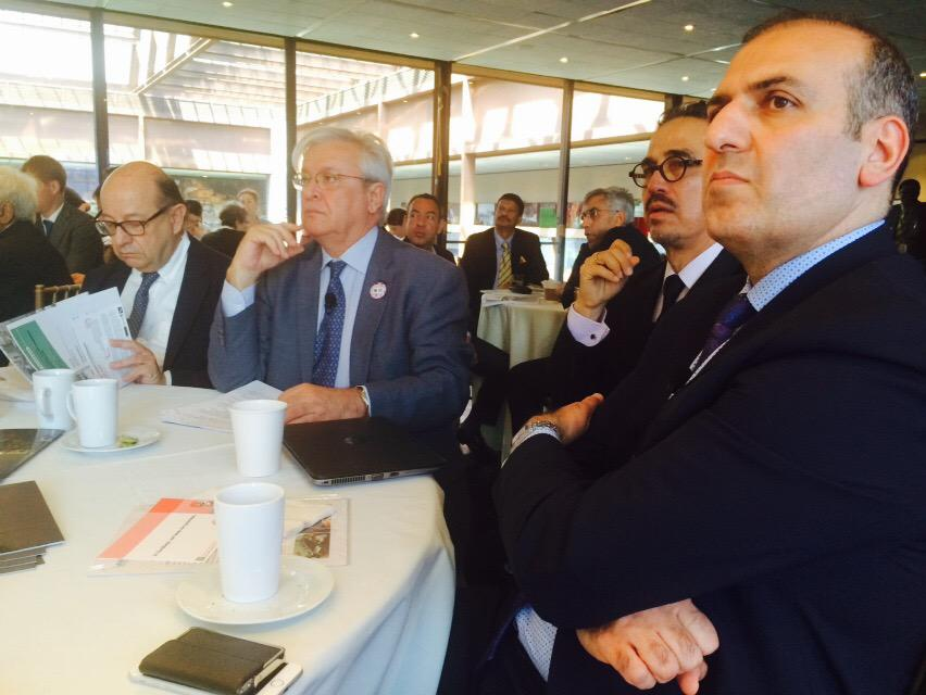 From Right: Reza Pourvaziry (President, ICL), Dr. Eduardo Lopez (Head of Research & CB, UN-Habitat), Dr. Joan Clos (Executive Director, UN-Habitat), Gordon Weiss (UN-Habitat Spokesperson)