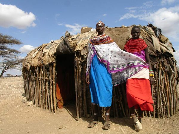 Impression of life in a Masai village