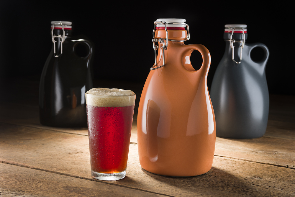Orange Vessel Company 64oz beer growler