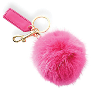 Mark & Graham Monogram Pom Pom Keychain