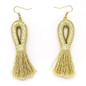 Mary Bret Pippa Tassel Gold Earrings