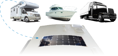 Durable Solar Flex panels for your RV, boat, and truck.