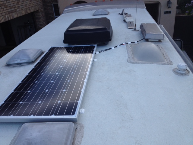 Solar panel installed on the roof