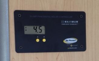 GP-PWM-30 digital solar controller.