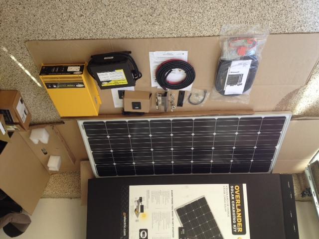 Weekender SW-160 complete solar charging kit.