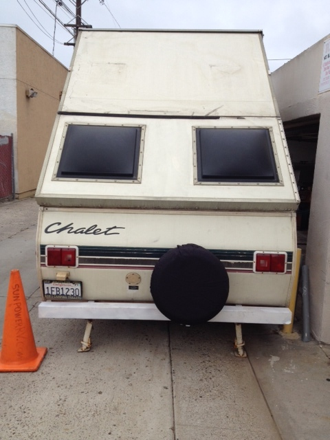 Rear View - Chalet Camping Trailer