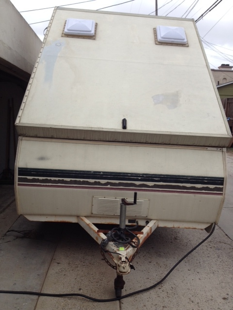 Front View - Chalet Camping Trailer