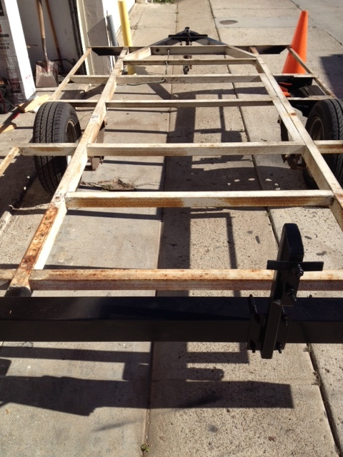 Trailer frame ready to prime.