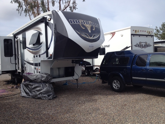 Sun Power RV getting ready to add solar to this Bighorn 5th wheel RV trailer.