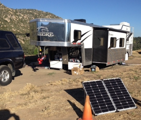 Solar Power install on a 5th wheel RV horse trailer.
