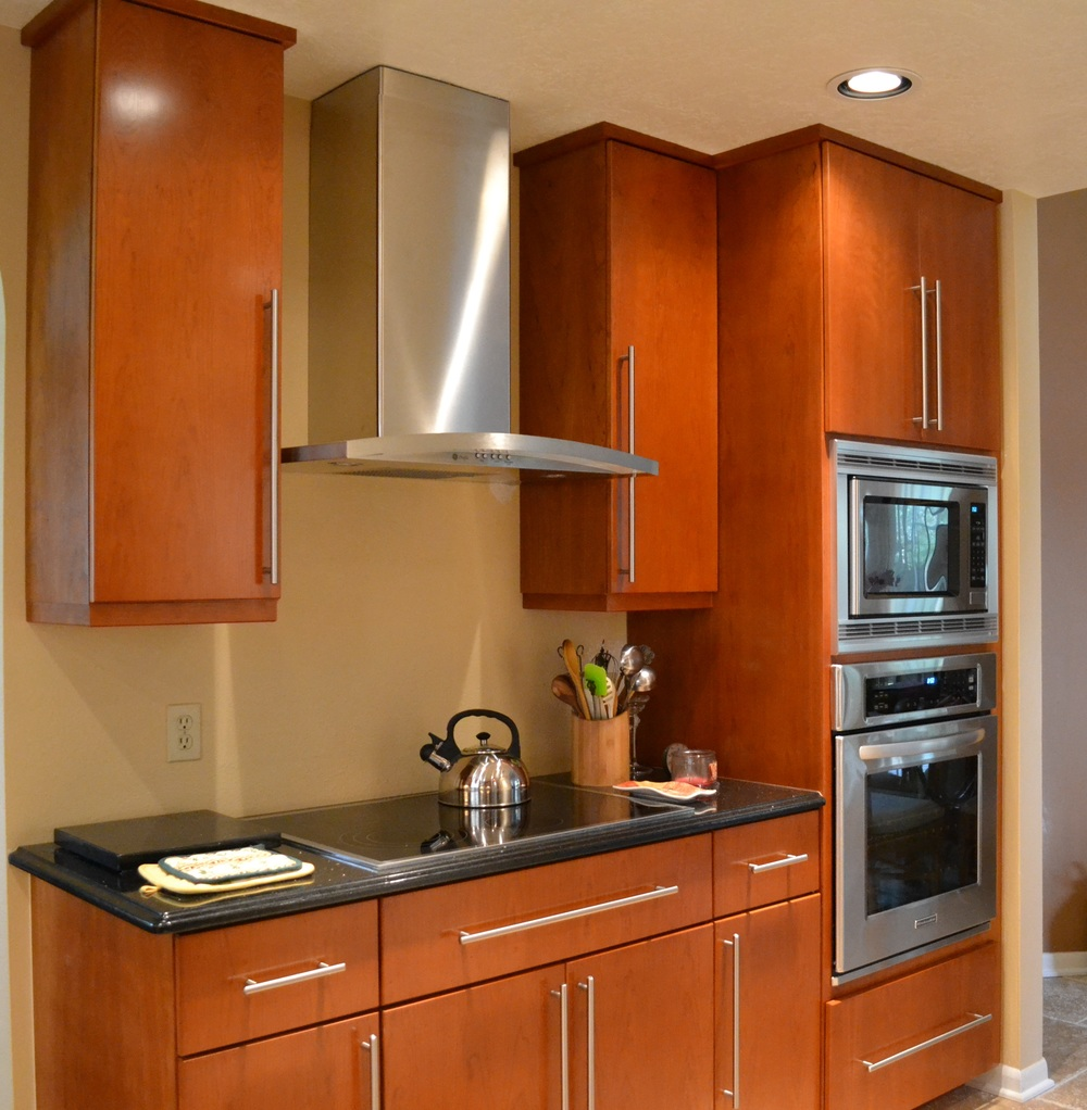 Modern Cherry Kitchen Cabinets modern kitchen cabinets cherry modern kitchen cabinets, shown in