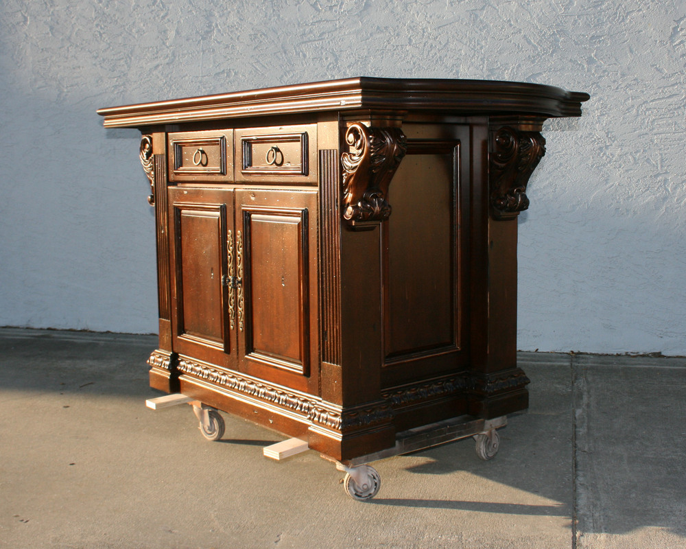 Kitchen Island with Stain Glaze and Metallic Flecks.jpg