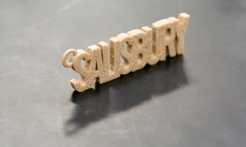 3D printed name