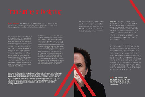 2-page magazine spread design