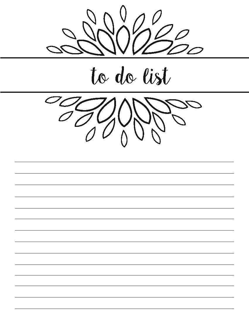 to do list design