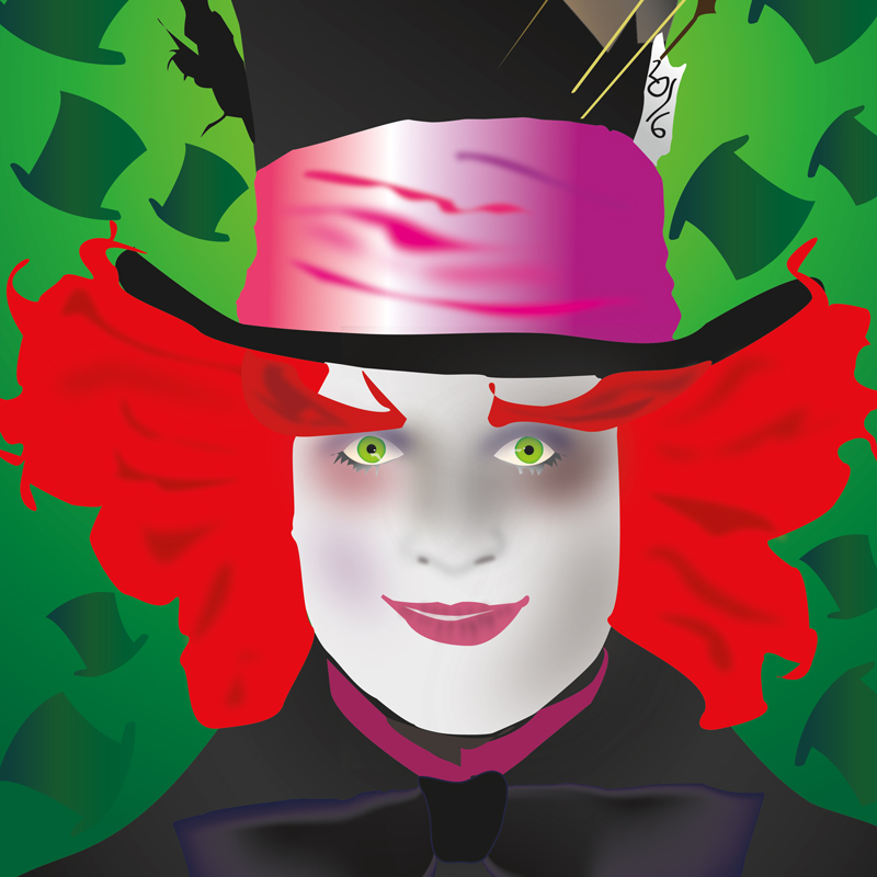 illustration of mad hatter