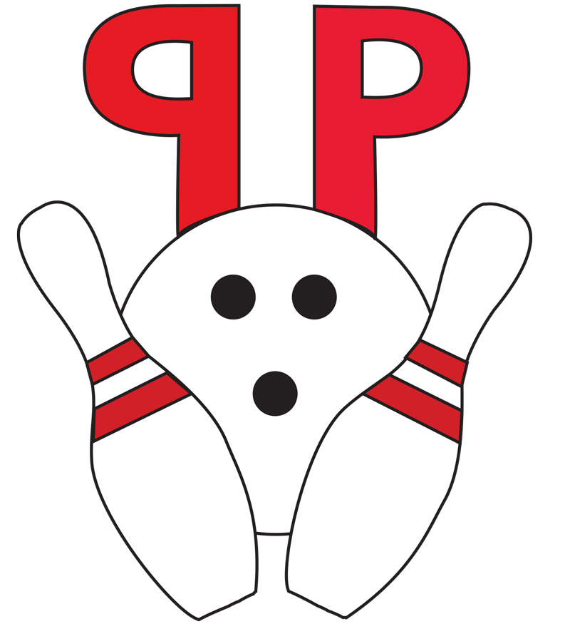 illustration pen pals bowling team logo