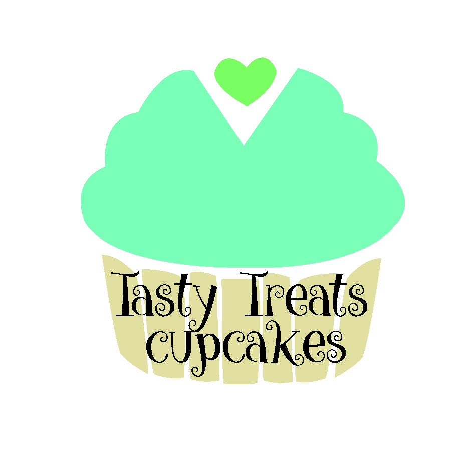 tasty treats cupcakes logo illustration