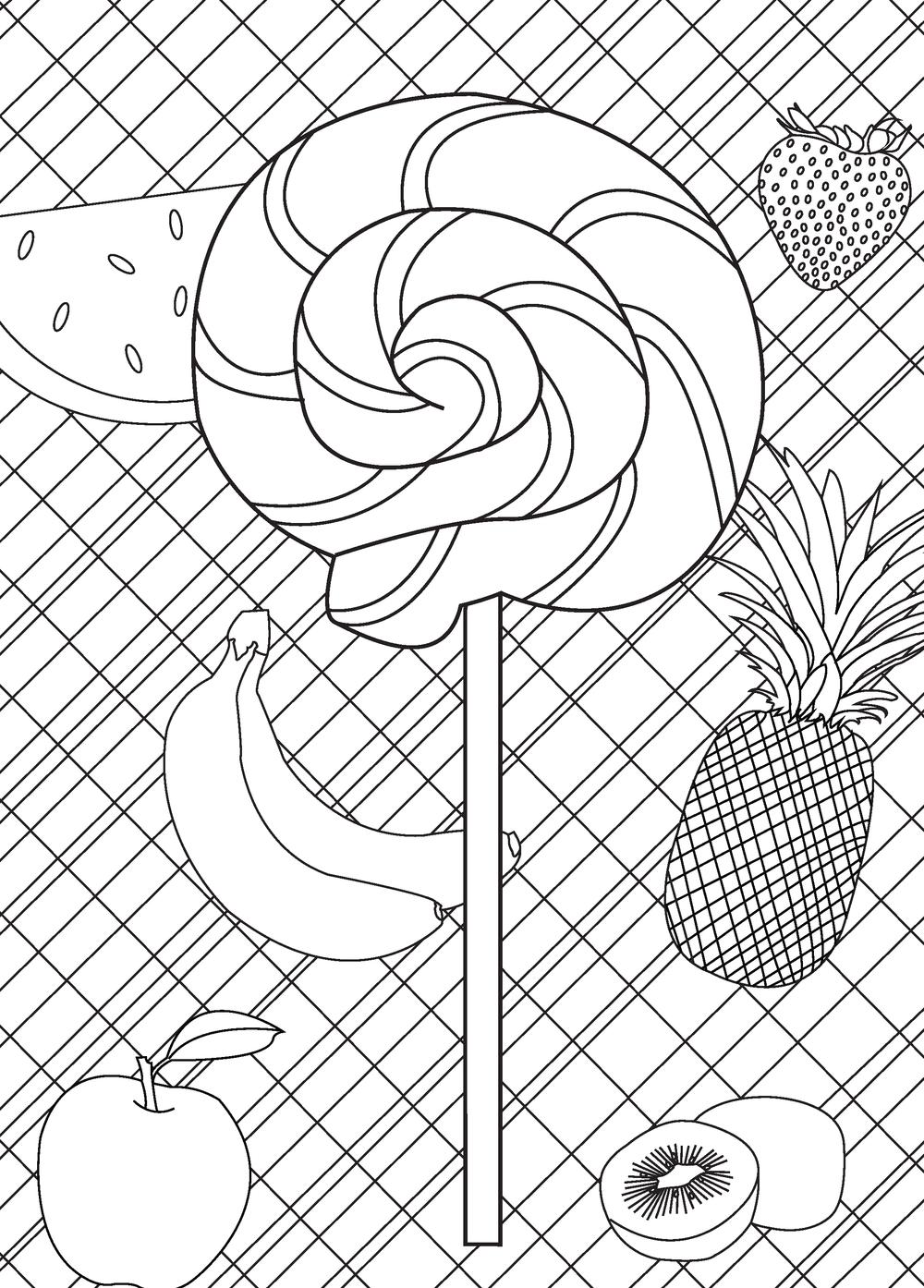 Lollipop Coloring Page