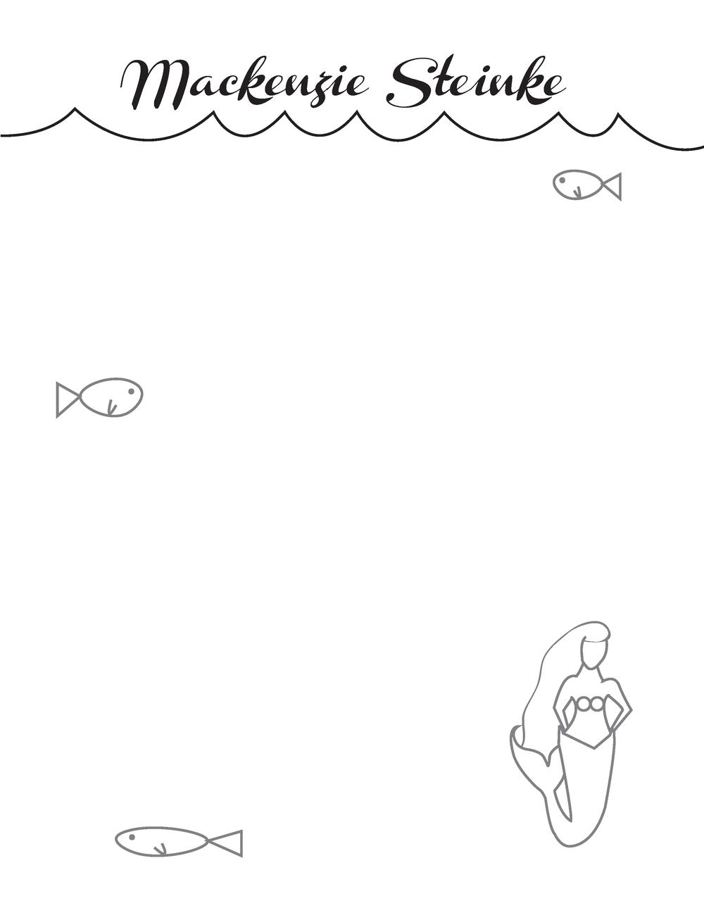 Mermaid Note Pad