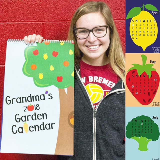 Grandma's 2🍅18 Garden Ca🥕endear by @sammy_kuck  #design #graphicdesign #calendar #garden #grandma #illustration photo @tara46884