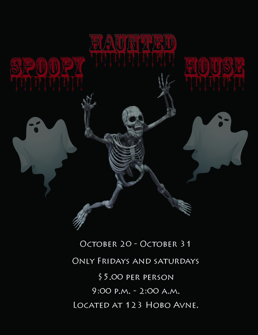 halloween 1day flyer