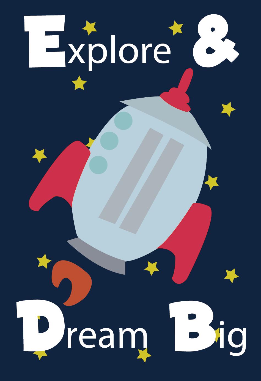 rocketship poster