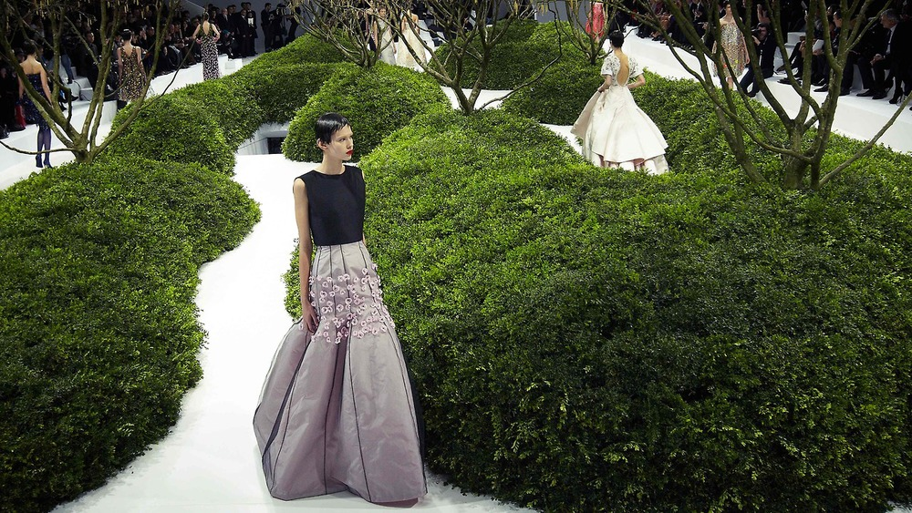 Christian Dior Haute Couture. Paris, France. 2013. Garden design by Jacques Wirtz.