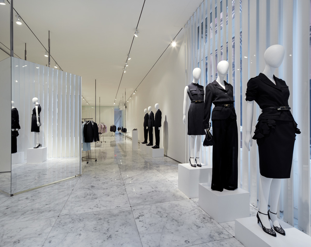 Jil Sander flagship store. New York City, 2009. Raf Simons & Germaine Kruip.
