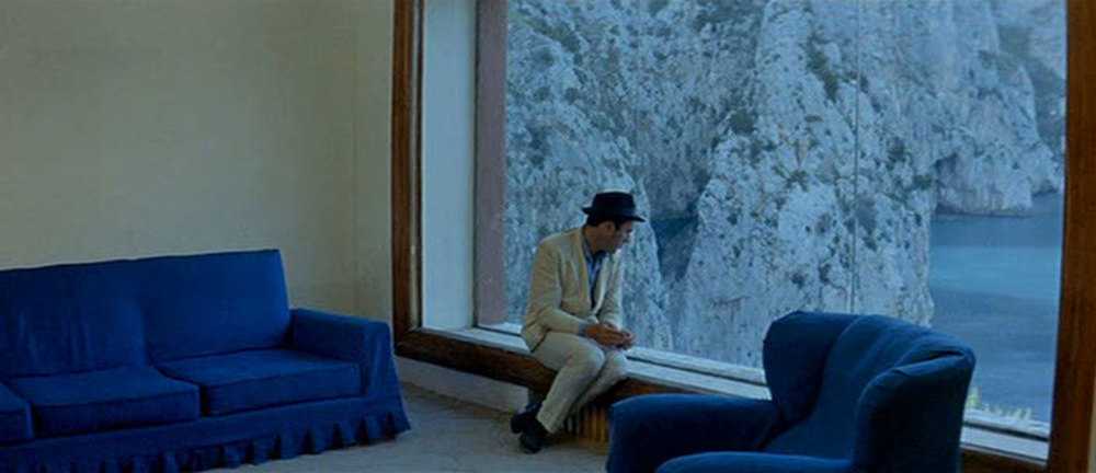 Le Mépris by Jean-Luc Godard. 1963. Filmed at the Casa Malaparte, Capri, Italy. 1937. Adalberto Libera.