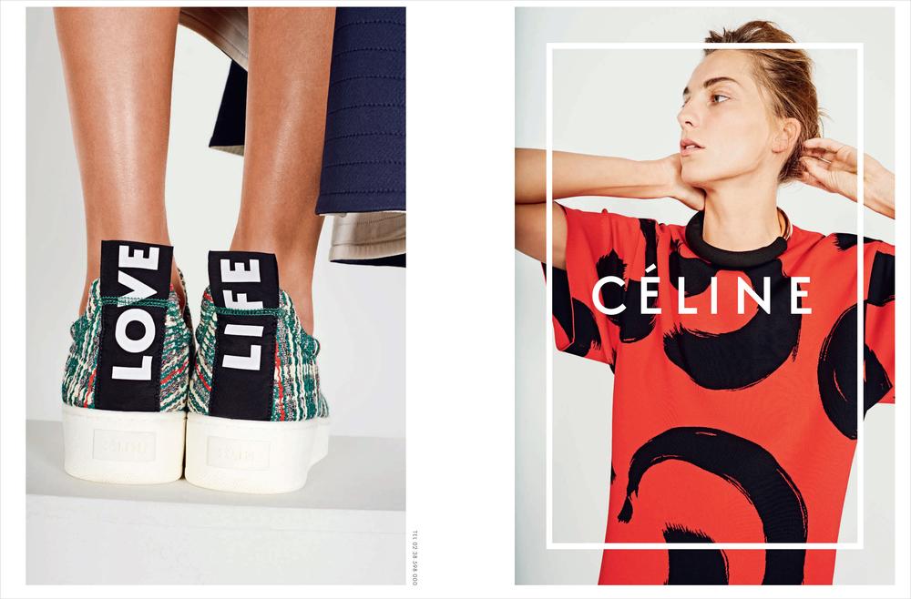 Celine SS14 campaign. Shot by Juergen Teller.