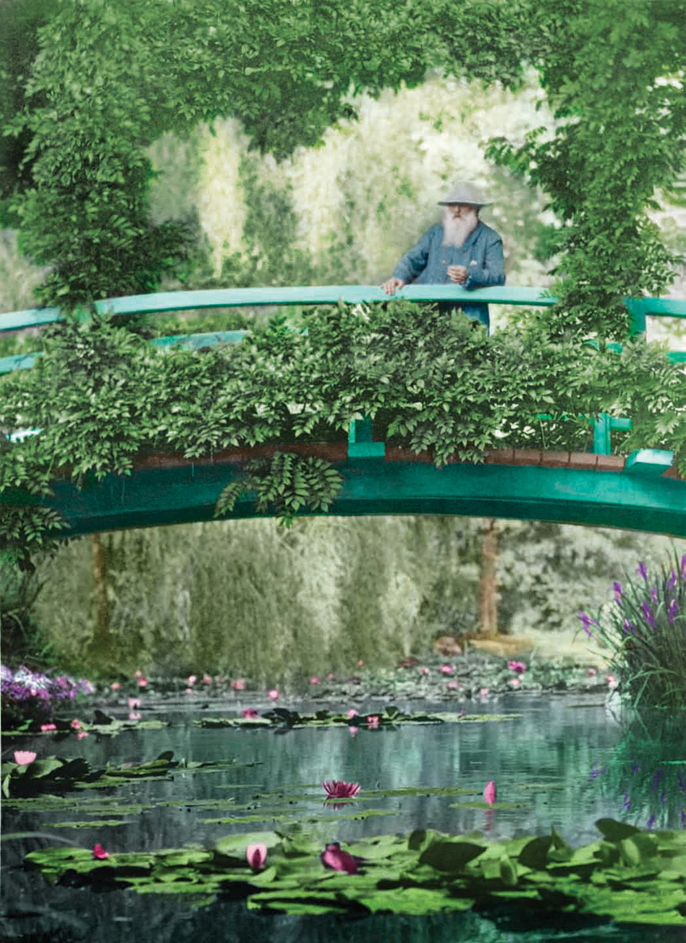 Monet's Garden. Giverny, France. 1922.