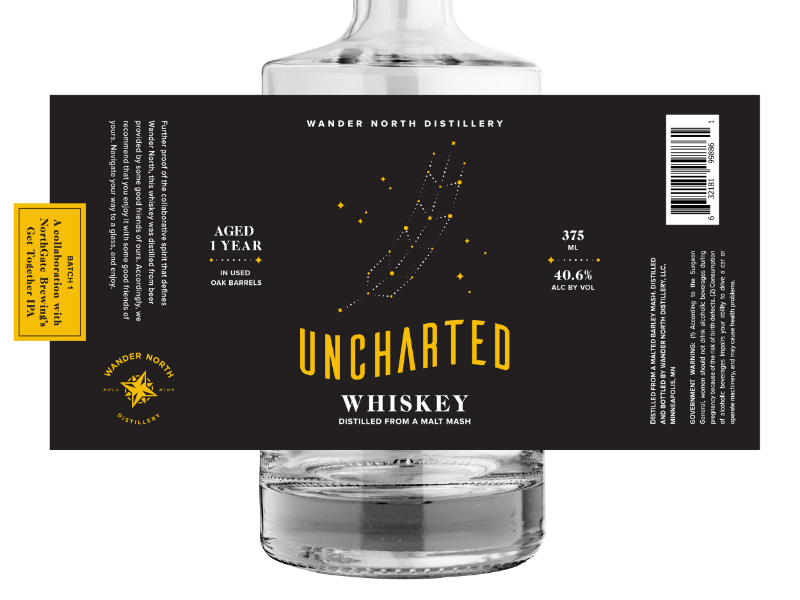 Uncharted Whiskey | Packaging Design