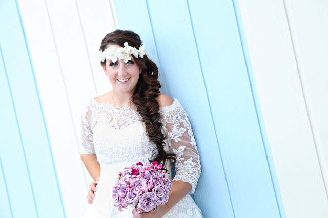 Hair and Makeup: Lauren Walsh, Laine Smart  Photographer: Regina Hyman  Location: Disney's Swan and Dolphin Resort  Planner: Just Marry! Events