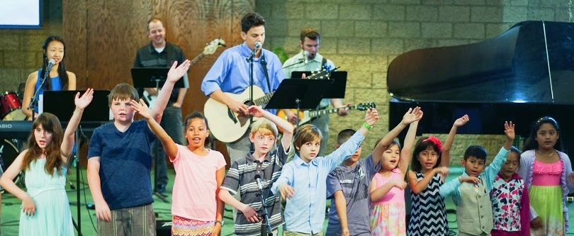 Children leading us in worship!