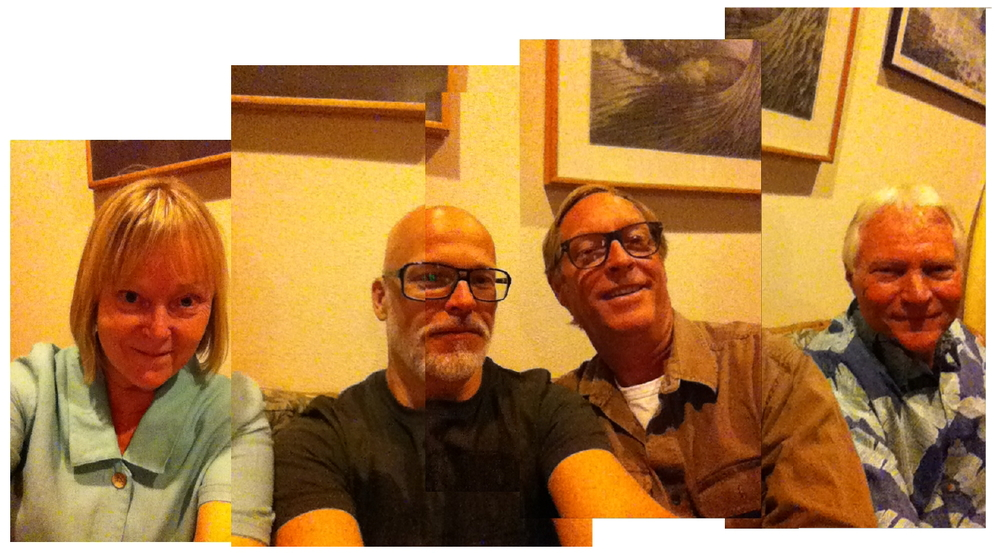 Selfies in Las Vegas: (L-R: Terry Williams, Tim, Dirk Brandts and Tom Threinen)   Photo Stitched by: Tom Threinen