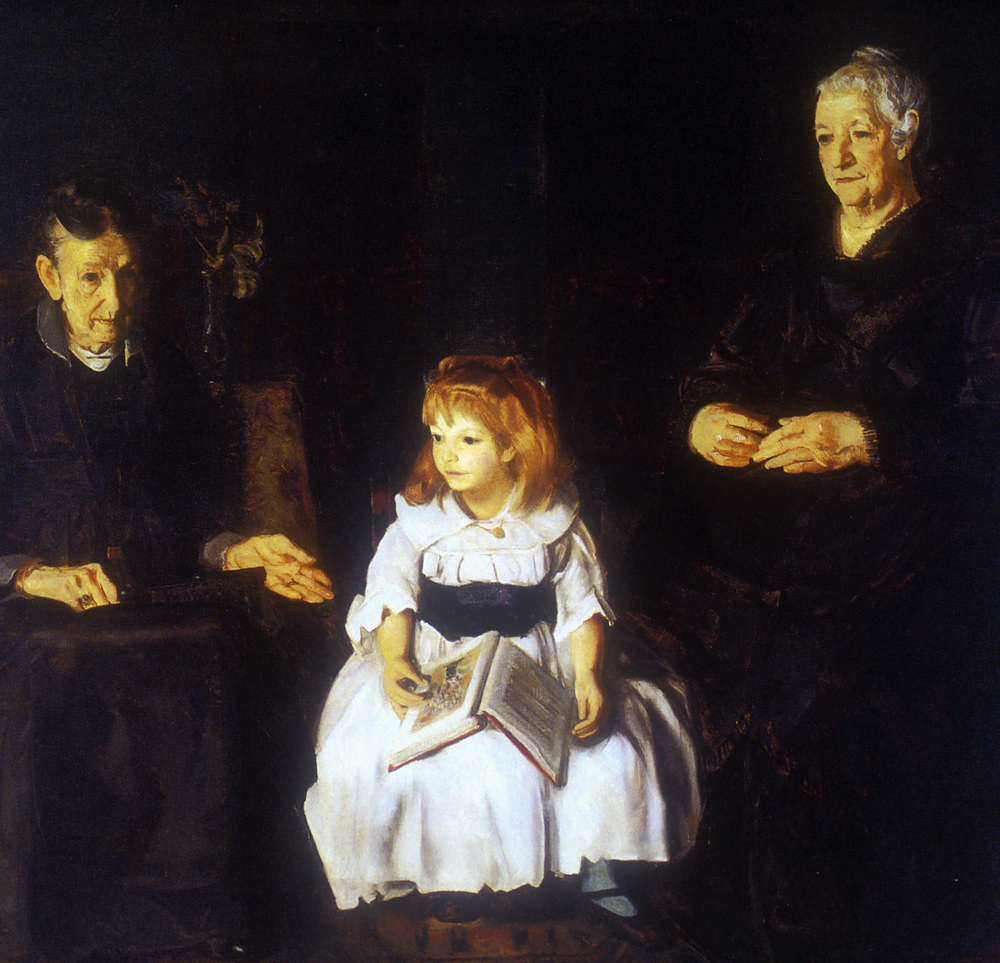 Elinor, Jean and Anna (1920). Oil on canvas. Albright-Knox Art Gallery, Buffalo, New York.