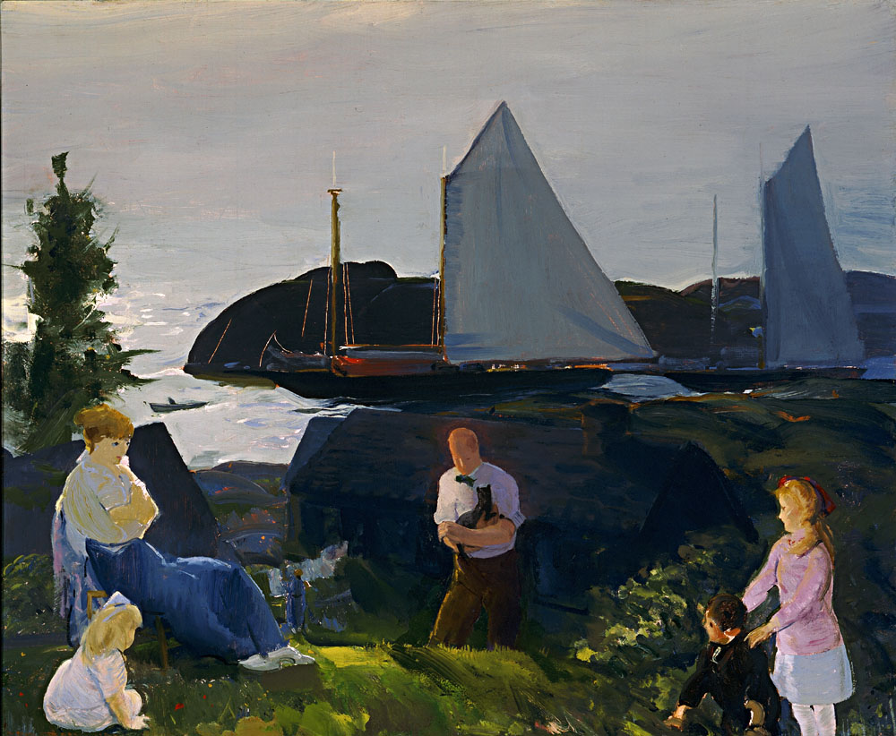 Evening Group (1922). Oil on board.
