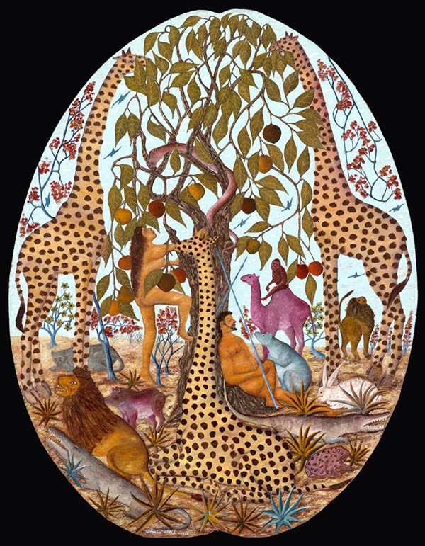 Joseph, Jasmin,Adam et Even (Adam and Eve),(1967). Oil on fiberboard.