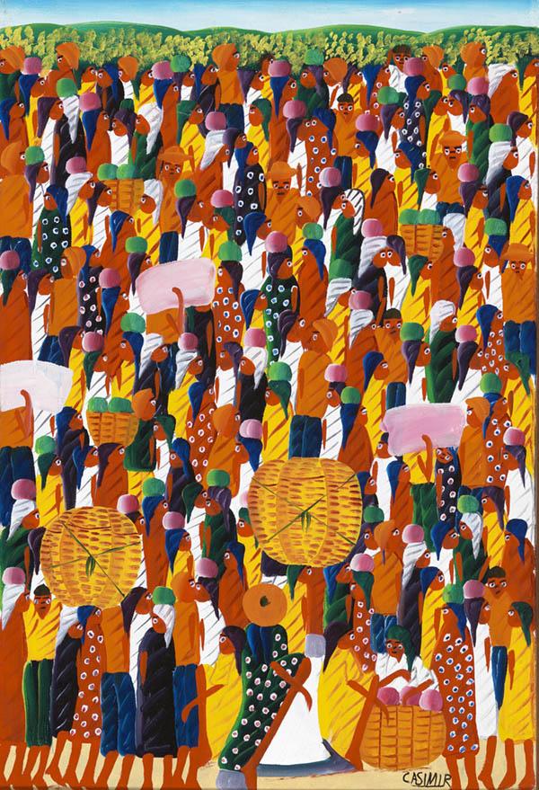 Casimir, Laurent,Market Place(ca. 1972). Oil on canvas.