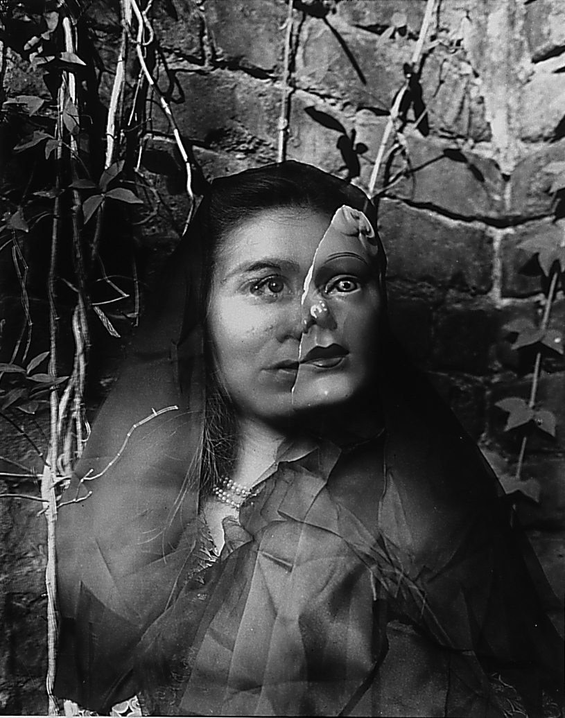 Clarence John Laughlin,  The Masks Grow To Us,  1950 (printed 1962), gelatin silver print