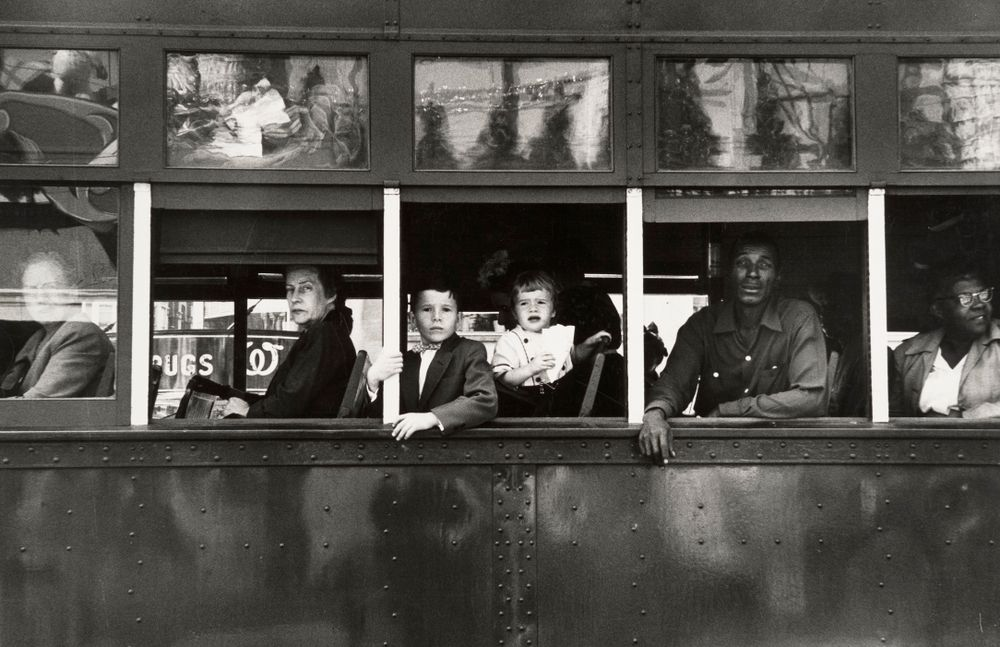 Robert Frank, Trolley, New Orleans, 1955, Gelatin Silver Print