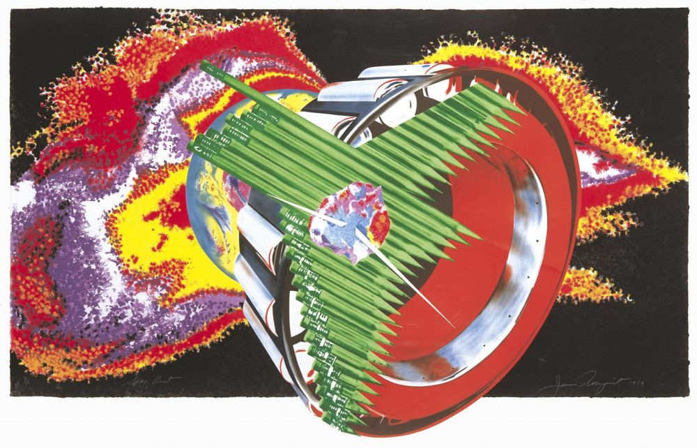 James Rosenquist, Space Dust, 1989