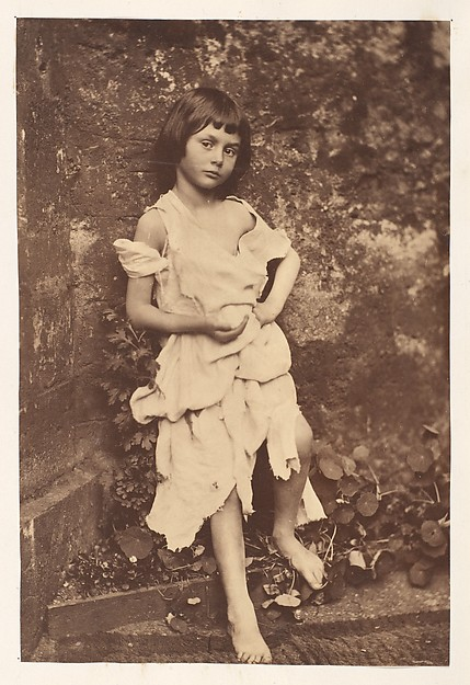 "Lewis Carroll, Alice Liddell as ""The Beggar Maid"", 1858, Albumen silver print from glass negative"