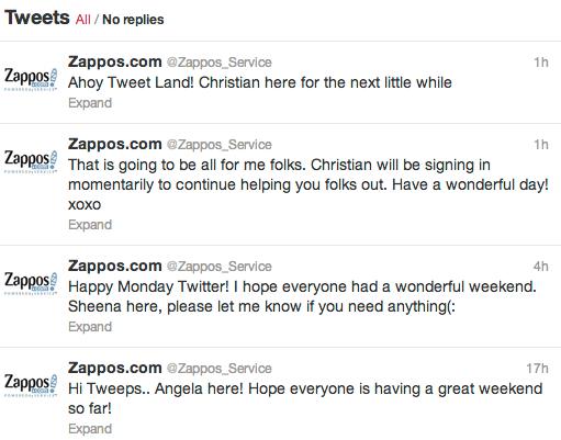 zappos example