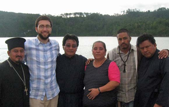With three of the Guatemalan priests during a trip to Tziscao, Mexico, in June 2012